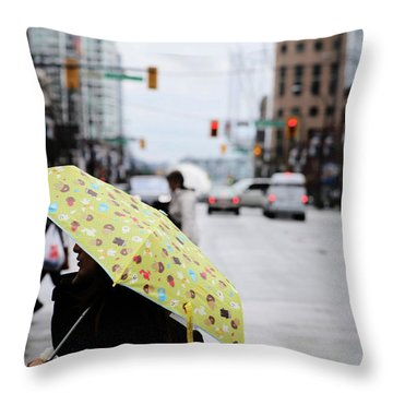 Lemons And Rubber Boots  Throw Pillow by Empty Wall