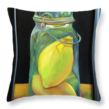 Lemons In Jar.  Sold Throw Pillow