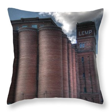 Lemp Brewery Throw Pillow by Jane Linders