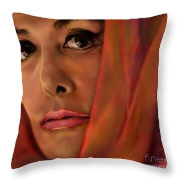 Lena Horne-glass Windows Throw Pillow by Reggie Duffie