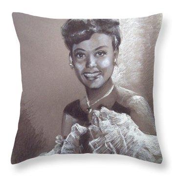 Lena Horne Throw Pillow
