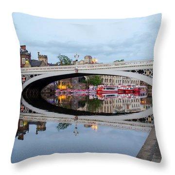 Lendal Bridge Reflection  Throw Pillow