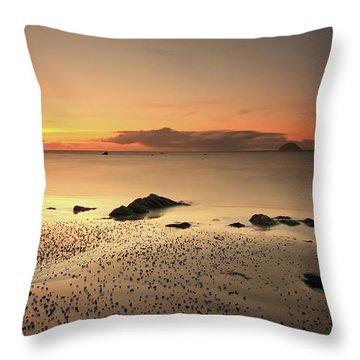 Lendalfoot Sunset Ref8962 Throw Pillow