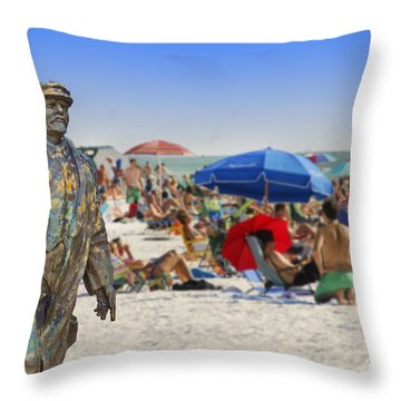 Lenin Goes To The Beach  Throw Pillow