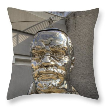Lenin On La Brea Throw Pillow