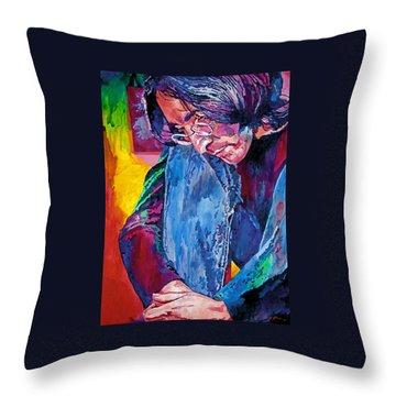 Lennon In Repose Throw Pillow