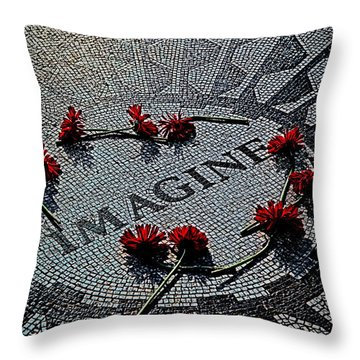 Lennon Memorial Throw Pillow by Chris Lord