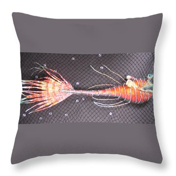 Lenny The Lipster Fish Throw Pillow by Dan Townsend
