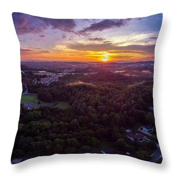 Lenoir North Carolina  Sunset Throw Pillow