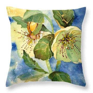 Lenten Rose Throw Pillow