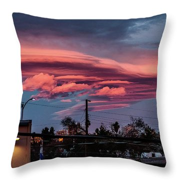 Lenticular Cloud Las Vegas Throw Pillow