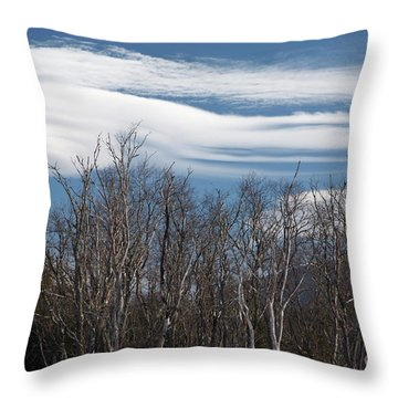 Lenticular Clouds - White Mountains New Hampshire  Throw Pillow