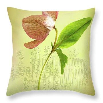 Lenton Rose 1 Throw Pillow
