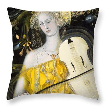 Leo Throw Pillow by Annael Anelia Pavlova