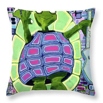 Throw Pillow featuring the painting Leo At 21 by Donna Howard