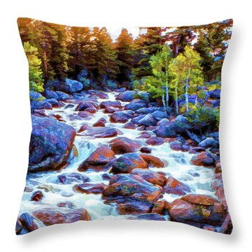 Leo Falls Throw Pillow