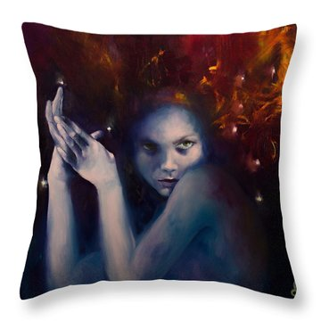 Leo From Zodiac Signs Throw Pillow
