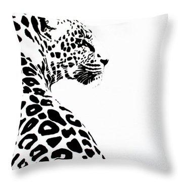 Leo-pard Throw Pillow