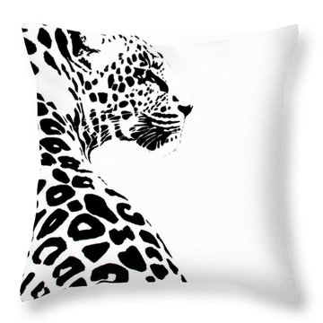 Leo-pard Throw Pillow