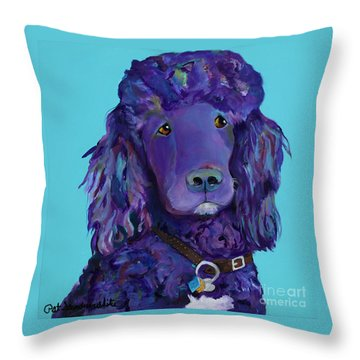 Leo Throw Pillow by Pat Saunders-White