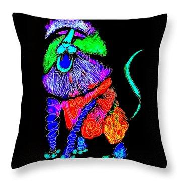 Leo, Rampant -- Negative Version Throw Pillow