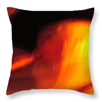 Leon Russel Throw Pillow by Mike Martin
