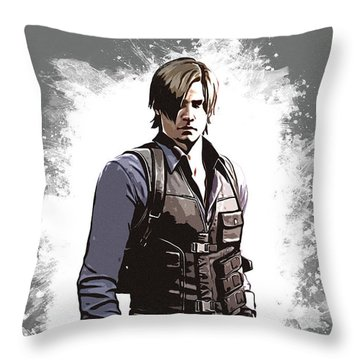 Leon S. Kennedy Throw Pillow