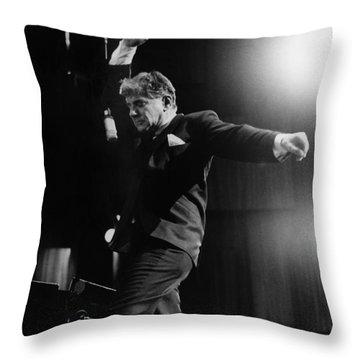 Leonard Bernstein Throw Pillow by Granger