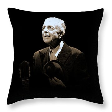 Portrait Of Leonard Cohen Throw Pillow