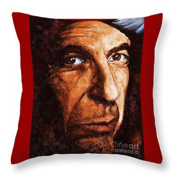 Leonard Cohen Throw Pillow