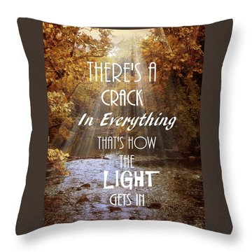 Leonard Cohen Quote Throw Pillow by Jessica Jenney