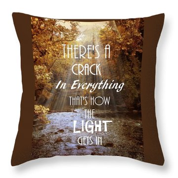 Leonard Cohen Quote Throw Pillow