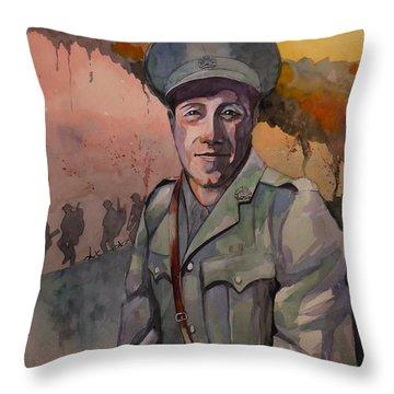 Leonard Keysor Vc Throw Pillow by Ray Agius