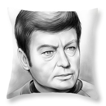 Leonard Mccoy Throw Pillow