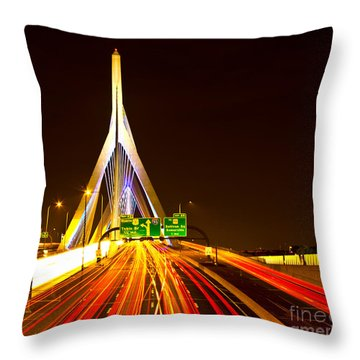 Leonard P. Zakim Bunker Hill Bridge  Throw Pillow