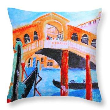 Leonardo Festival Of Venice Throw Pillow
