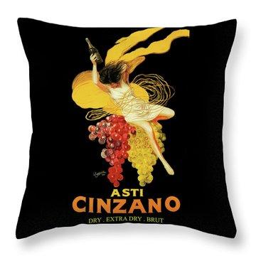 Leonetto Cappiello - Asti Cinzano Throw Pillow