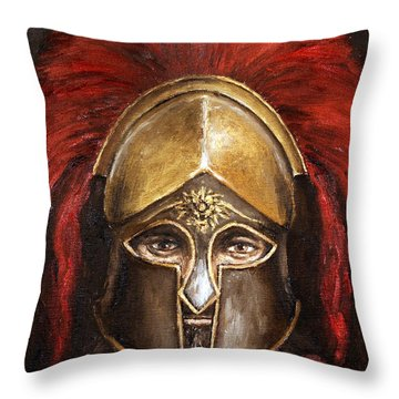 Leonidas Throw Pillow by Arturas Slapsys