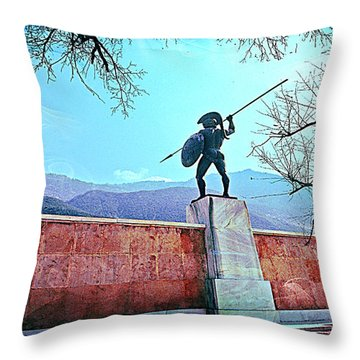 Leonidas At Thermopylae Ver 5 Throw Pillow
