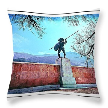 Leonidas At Thermopylae Ver 6 Throw Pillow