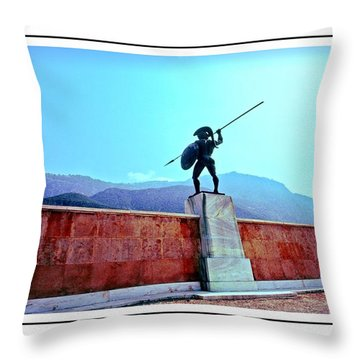Leonidas At Thermopylae Ver 7 Throw Pillow