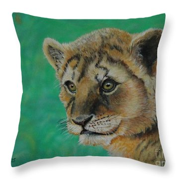 Leonidas   The Young Lion King Throw Pillow