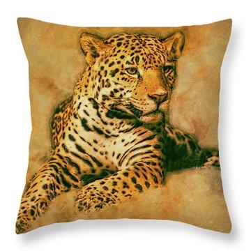 Leopard 3 Throw Pillow