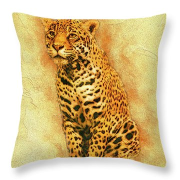 Leopard 4 Throw Pillow
