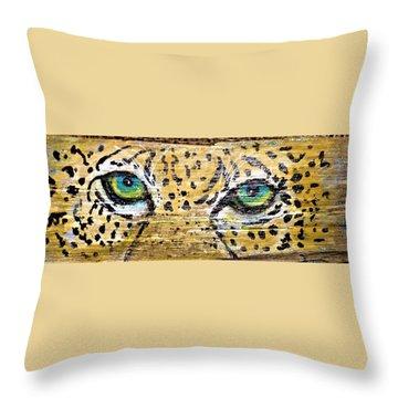 Leopard Eyes Throw Pillow