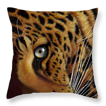 Leopard Throw Pillow by Jurek Zamoyski