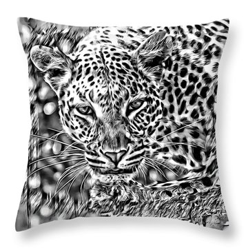 Throw Pillow featuring the photograph Leopard by Lucia Sirna