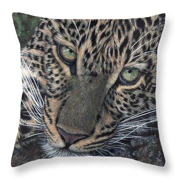 Leopard Portrait Throw Pillow