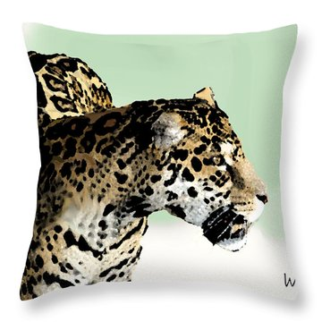 Leopard Throw Pillow by Walter Chamberlain