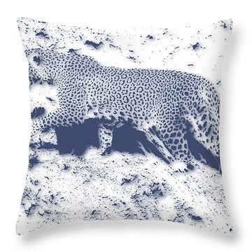 Leopard5 Throw Pillow